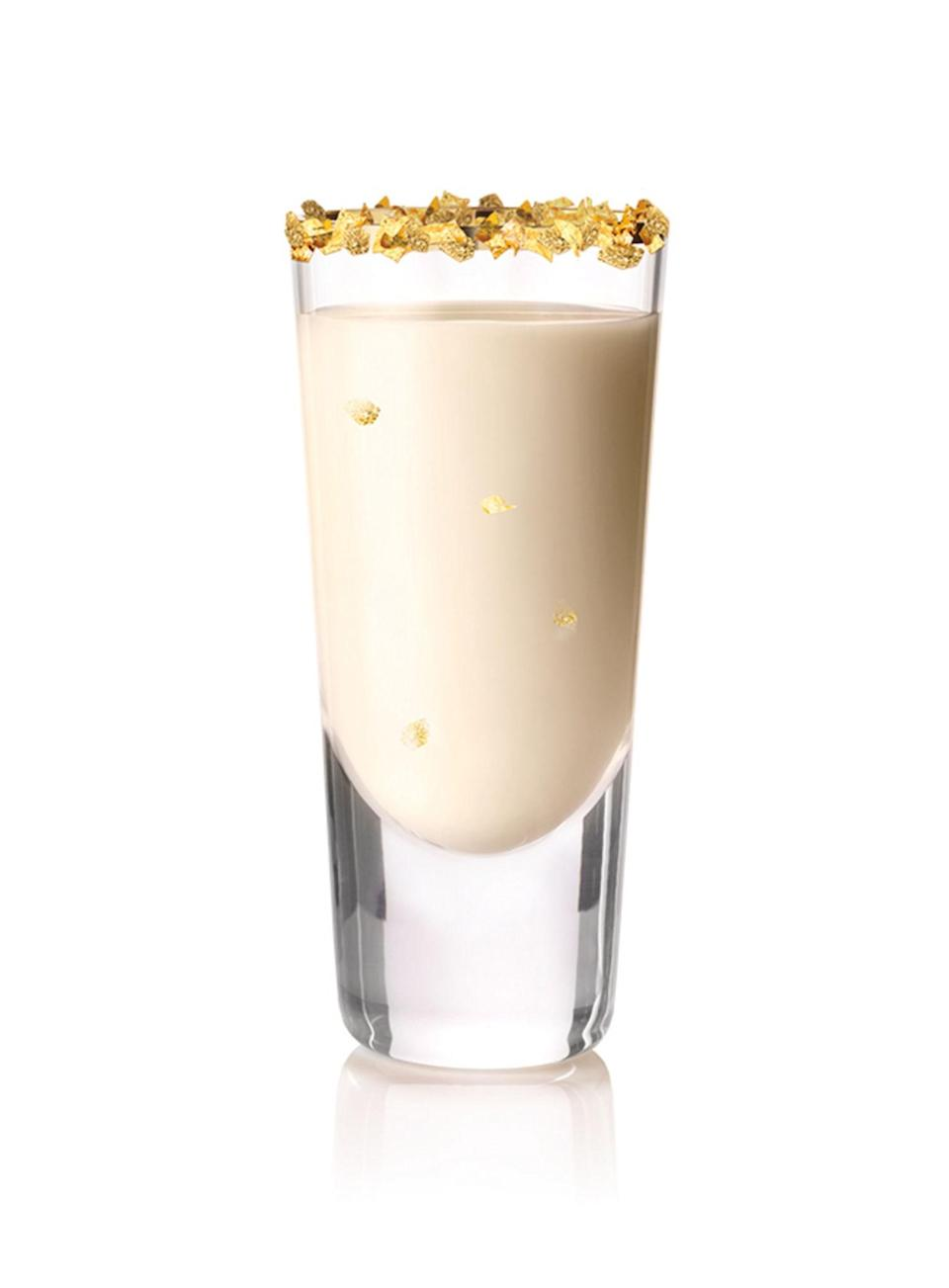 <p>1 ounce Baileys Vanilla Cinnamon Liqueur</p> <p>1/2 ounce Goldschläger Cinnamon Schnapps</p> <p>Edible gold flakes to rim glass (optional)</p> <p>Combine Baileys Vanilla Cinnamon and Goldschläger Cinnamon Schnapps in a cocktail shaker with ice and shake vigorously. Strain contents into a chilled shot glass rimmed with edible gold flakes.</p>