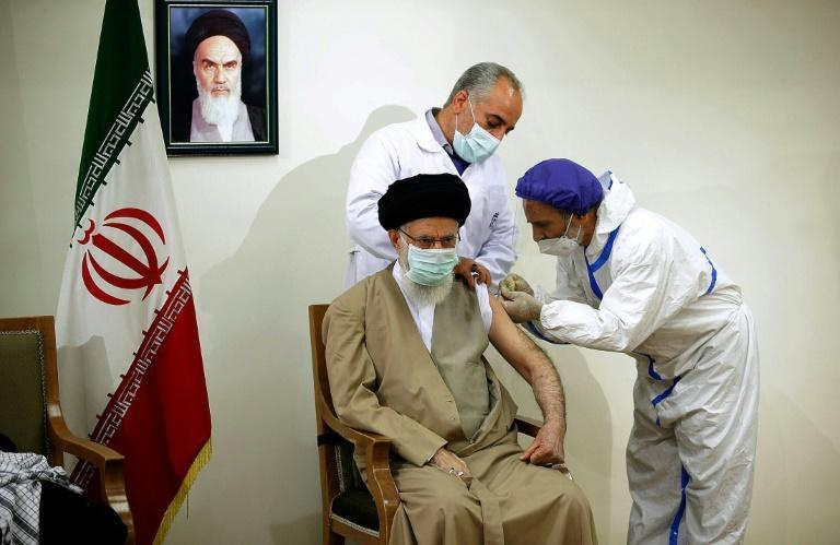 Supreme Leader Ayatollah Ali Khamenei received a jab of Iran's domestically-developed vaccine as the sanctions-hit nation struggles with supplies
