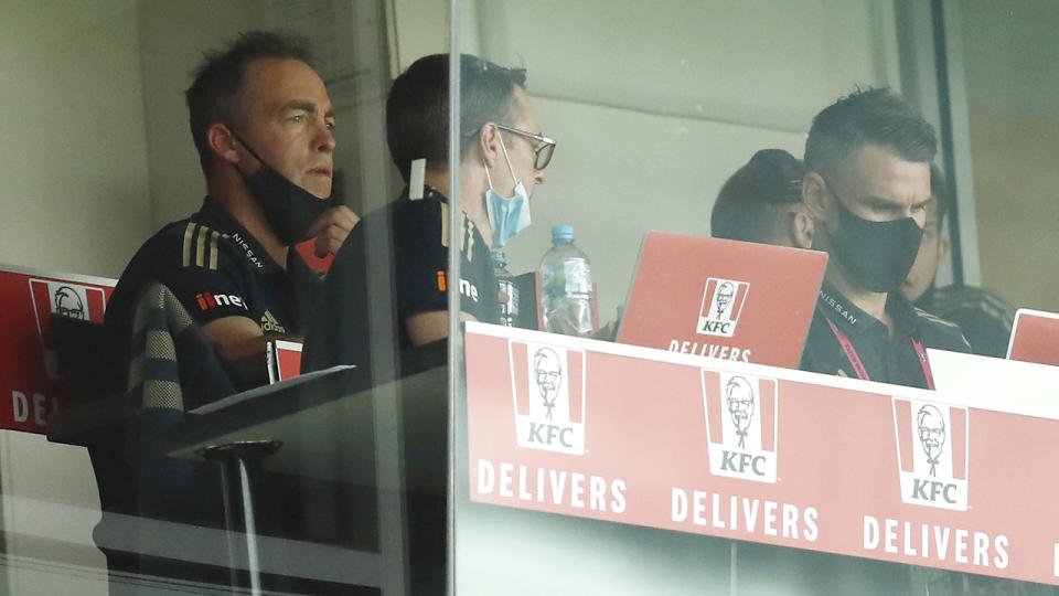 Alastair Clarkson, pictured here during his final game in charge of Hawthorn.