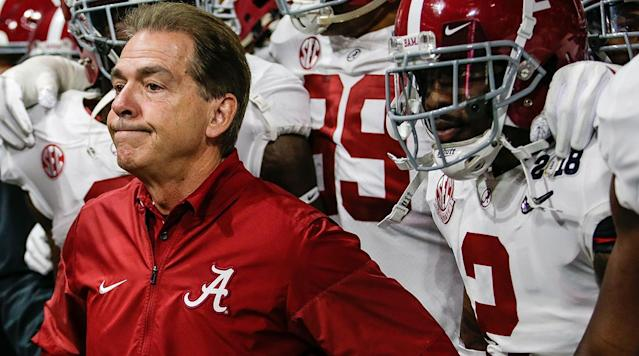 <p><strong>24. Alabama</strong><br>Top 2017-18 sport: football. Trajectory: Up. Putting the waterfall in the football facility hasn't bankrupted the rest of the department — the Crimson Tide has risen from 36th to 25th to 14th over the past three years. Unlike Clemson, there are plenty of signs of life here beyond the gridiron — especially on the golf course. </p>