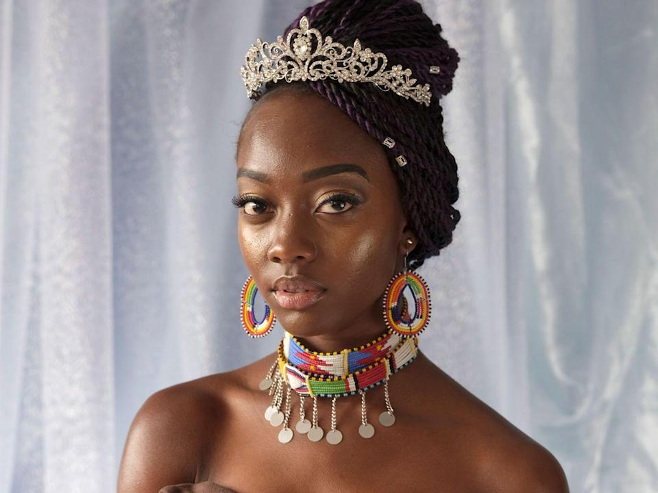 """Julie Gikami, Miss Africa GB Beauty Pageant Contestant. London, 2017<span class=""""copyright"""">Photo: Alice Mann.</span>"""