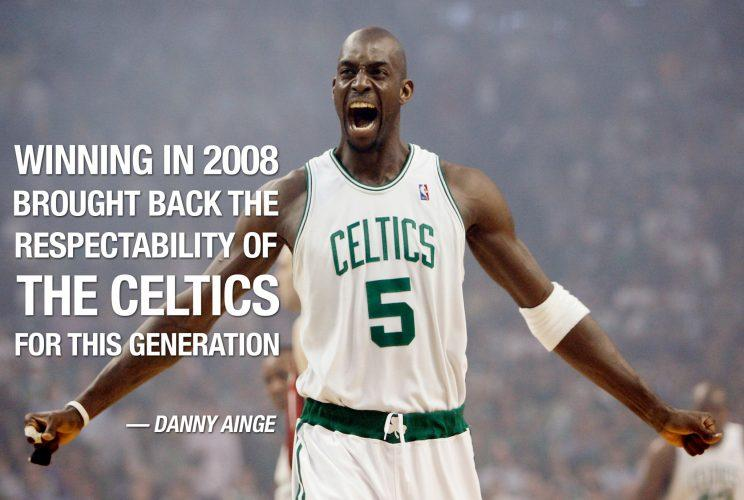 In a span of six years, Kevin Garnett joined the ranks of the Celtics greats. (AP)