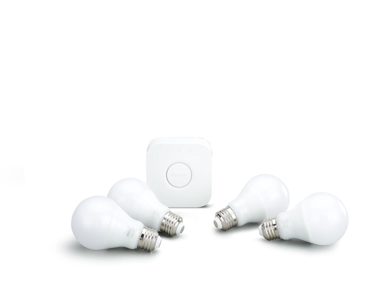 Cast your home in a new light  $100-$600  Move your home into the future by replacing your old incandescent light bulbs with Wi-Fi- or Bluetooth-enabled versions that save energy and make your light switch obsolete. Companies from GE to Ikea manufacture these so-called smart bulbs, which often, but not always, require connection to a central hub. A starter kit of four light bulbs plus hub device from Philips Hue, one of the systems favored by gadget site Tom's Guide, is $100. Packs of four additional bulbs cost $50. Considering that the average home has close to 40 light bulbs, you can outfit your entire home with smart bulbs for $550. Assuming you haven't already upgraded to LED or CFL bulbs, you will also cut the cost of lighting your home by half or more.