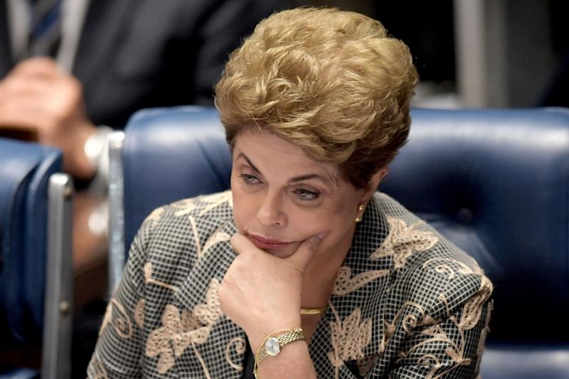 Former Brazilian President Dilma Rousseff was removed from office on charges of illegally manipulating the government's accounts (AFP Photo/Evaristo Sa)