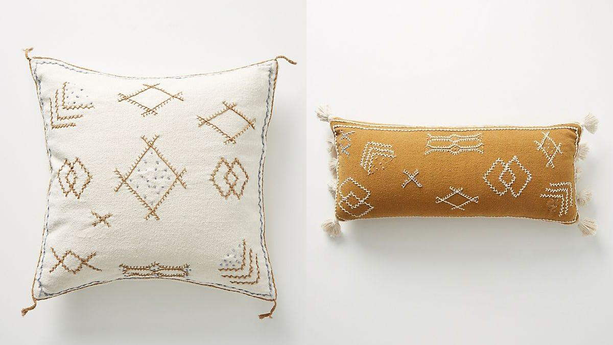 Joanna Gaines collaborated with Anthropologie on these cute throw pillows.