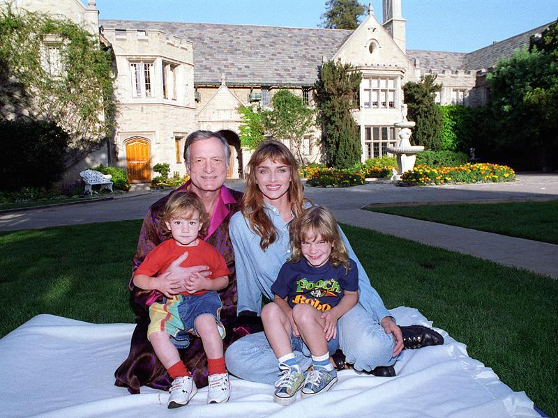 "Domestic LifeHefner married model Kimberley Conrad at age 63 (she was 26). ""I was ready to be a dad again,"" says Hefner of their sons Cooper, now 24, and Marston, now 26 (pictured in 1993)."