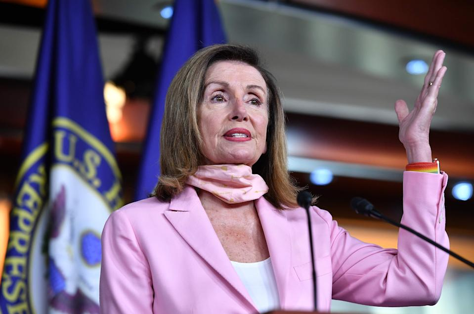 Nancy Pelosi on July 31, 2020, in Washington, D.C.