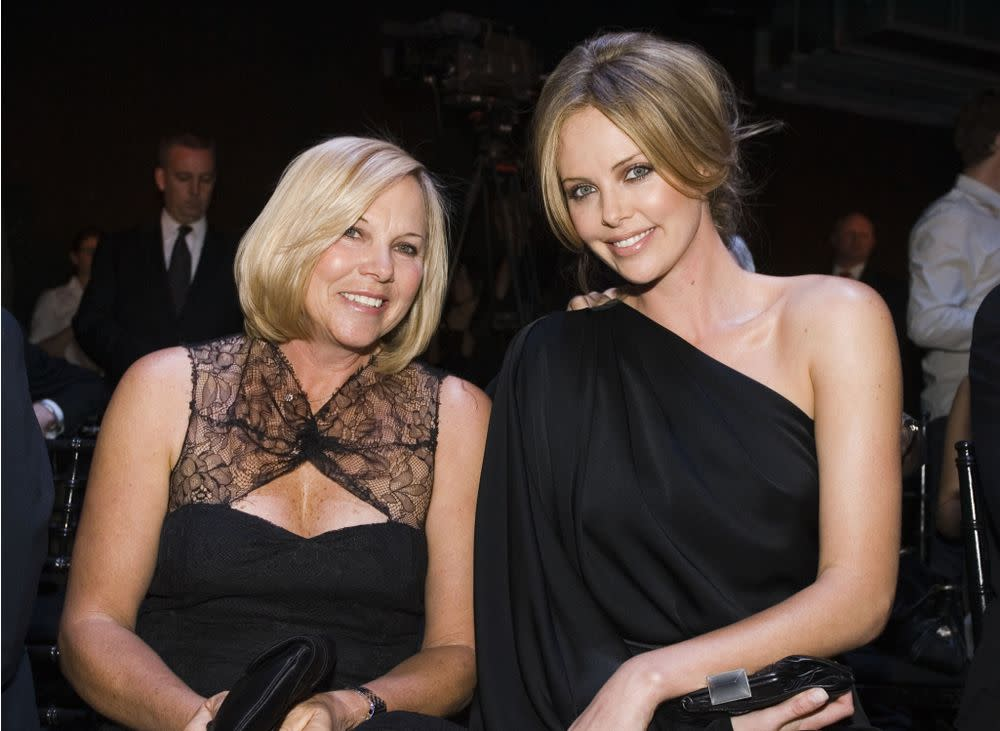 Charlize Theron and her mother Gerda in May 2007