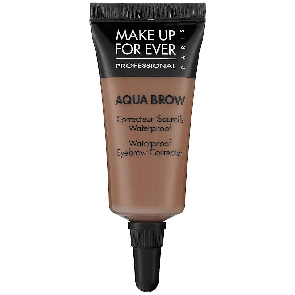 <p>This <span>Make Up For Ever Aqua Brow</span> ($23) earns top marks for holding up in the ocean or pools as the highly pigmented gel locks color into hair and virtually lengthens them at the same time.</p>