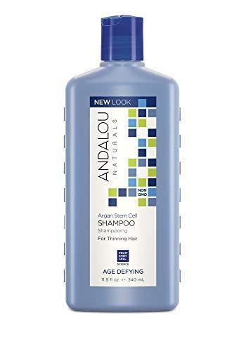 """<p><strong>Andalou Naturals</strong></p><p>amazon.com</p><p><strong>$10.96</strong></p><p><a href=""""https://www.amazon.com/dp/B006RHI142?tag=syn-yahoo-20&ascsubtag=%5Bartid%7C2164.g.32690409%5Bsrc%7Cyahoo-us"""" rel=""""nofollow noopener"""" target=""""_blank"""" data-ylk=""""slk:Shop Now"""" class=""""link rapid-noclick-resp"""">Shop Now</a></p><p>There's no reason to spend an exorbitant amount on trying a new product, even if it's meant to treat a specialty condition—this bottle of shampoo for thinning hair is less than $10! </p>"""
