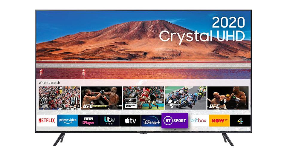 """Samsung 55"""" TU7100 HDR Smart 4K TV with Tizen OS"""