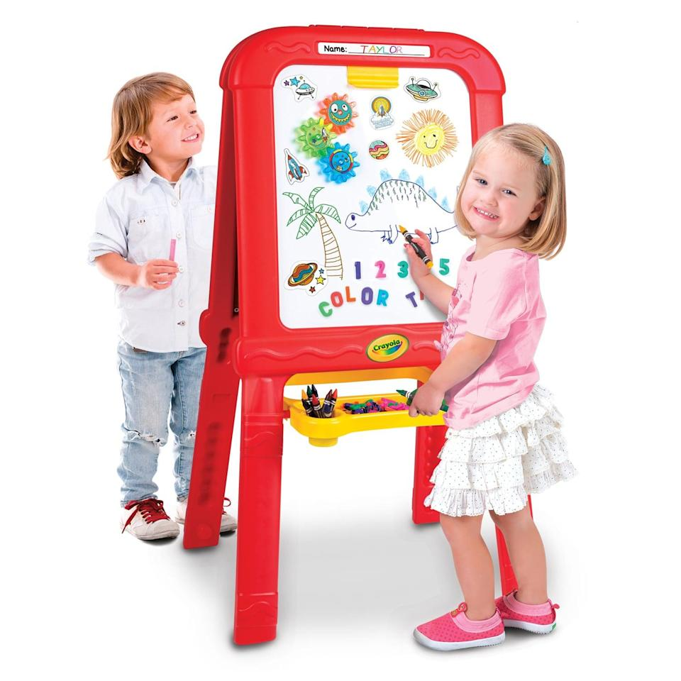 <p>The <span>Crayola Creative Fun Double Easel </span>($45) is yet another child-approved option that's bound to sell out quickly this holiday season. </p>