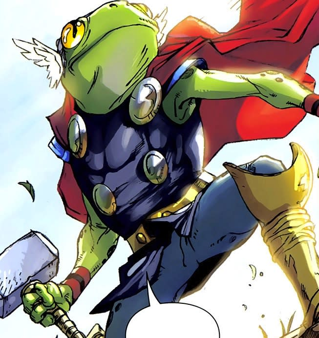 Throg is an amphibian ally of Thor. (Image: Marvel Comics)