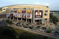 A general exterior view of Quicken Loans Arena where the Republican delegates are set to gather from July 18 to 21 to nominate Donald Trump as the party's presidential candidate (AFP Photo/Roland Martinez)