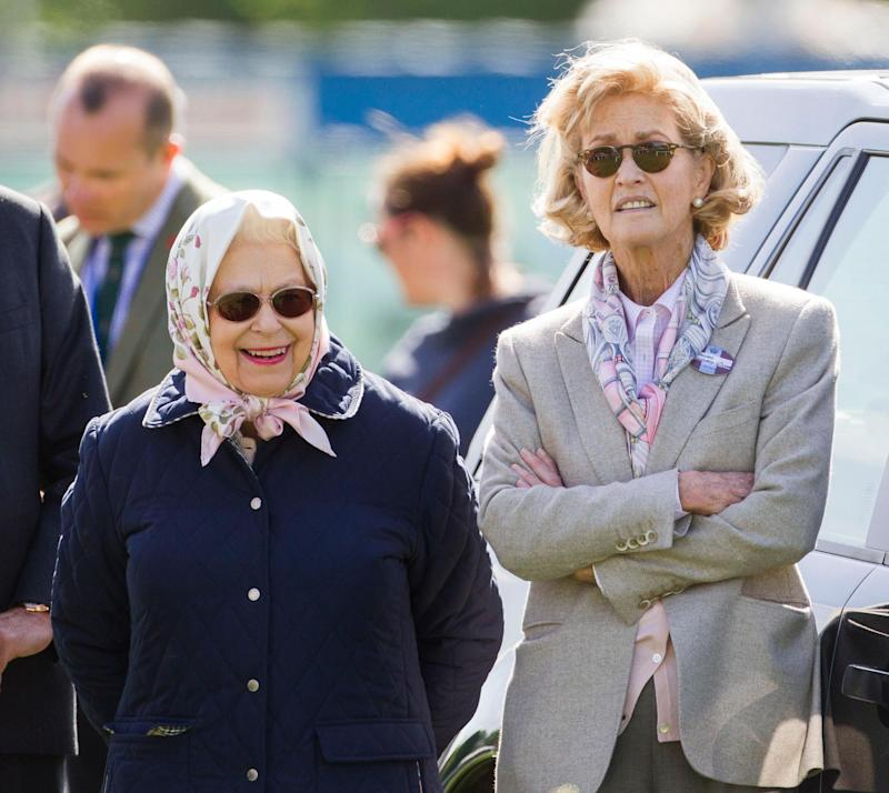 Queen Elizabeth with Lady Mountbatten at the Royal Windsor Horse Show in 2018 (David Hartley/Shutterstock)