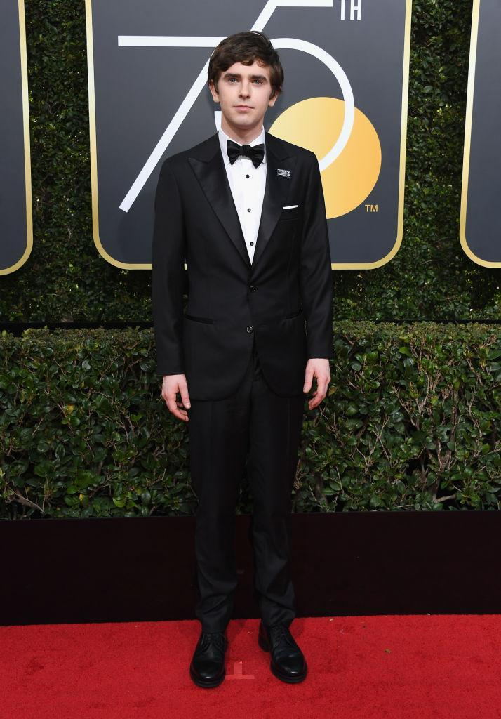 <p><em>The Good Doctor </em>actor, a nominee for Best Actor in a TV Drama, attends the 75th Annual Golden Globe Awards at the Beverly Hilton Hotel in Beverly Hills, Calif., on Jan. 7, 2018. (Photo: Steve Granitz/WireImage) </p>