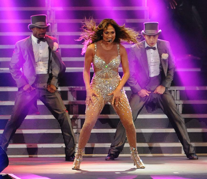 "<p class=""MsoNormal""><span>Dubai had been promised a mixture of songs old and new, as JLo announced the UAE concert on her Dance Again world tour. What they got was just that, closing the set with her more recent hit On The Floor. Photo: Peter Harrison/Yahoo! Maktoob</span></p>"