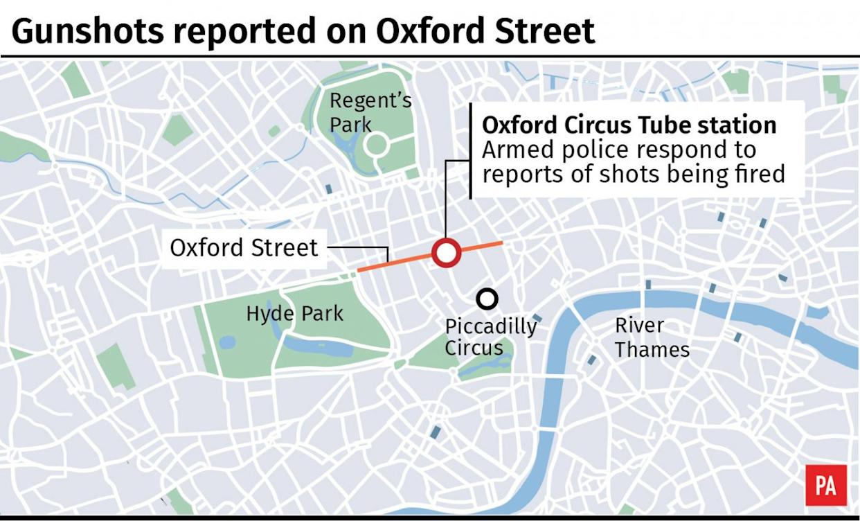 Oxford Circus Tube station locator