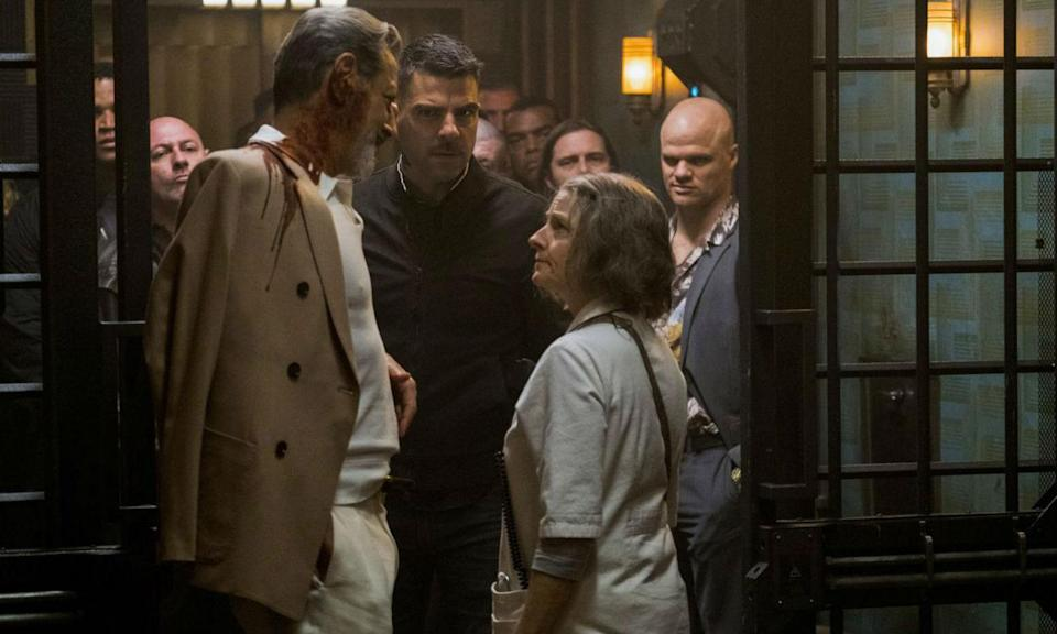 Hotel Artemis boasts a stellar ensemble cast including Jodie Foster, Jeff Goldblum and Zachary Quinto