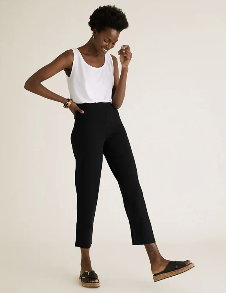 The leggings come in three colours: black, navy and white. (Marks & Spencer)