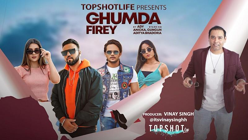 """Vinay Singh of TopShotLife Introducing the Budding Talent and Fresh Voice- Ady With His Debut Track """"Ghumda Firey"""" Lyrics by Prabhakar"""