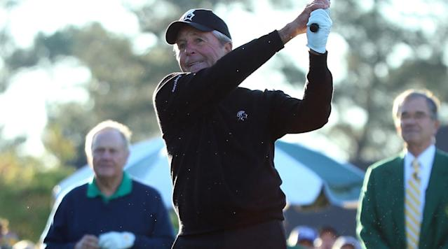 Gary Player takes shot at Jack Nicklaus ahead of Masters ceremonial tee shots