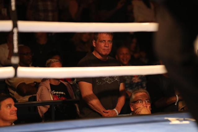 "<p>Actor Holt McCallany of ""Fight Club"" fame watches the NYPD Boxing Championships at the Theater at Madison Square Garden on June 8, 2017. (Photo: Gordon Donovan/Yahoo News) </p>"