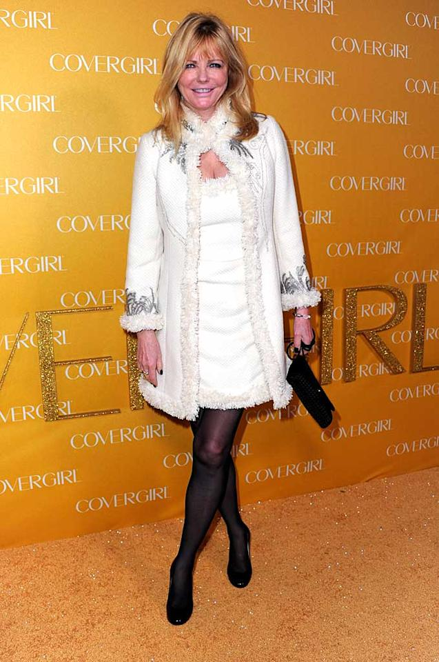 "Former CoverGirl model Cheryl Tiegs proved she's still got it at 63 in her festive white winter coat, which she wore over a matching frock paired with dark tights and heels. Alberto E. Rodriguez/<a href=""http://www.gettyimages.com/"" target=""new"">GettyImages.com</a> - January 5, 2011"