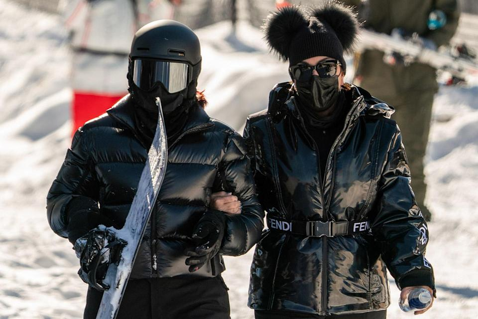 <p>Kylie Jenner and her mom, Kris Jenner, hit the slopes on New Year's Day at Buttermilk Ski Area in Colorado.</p>