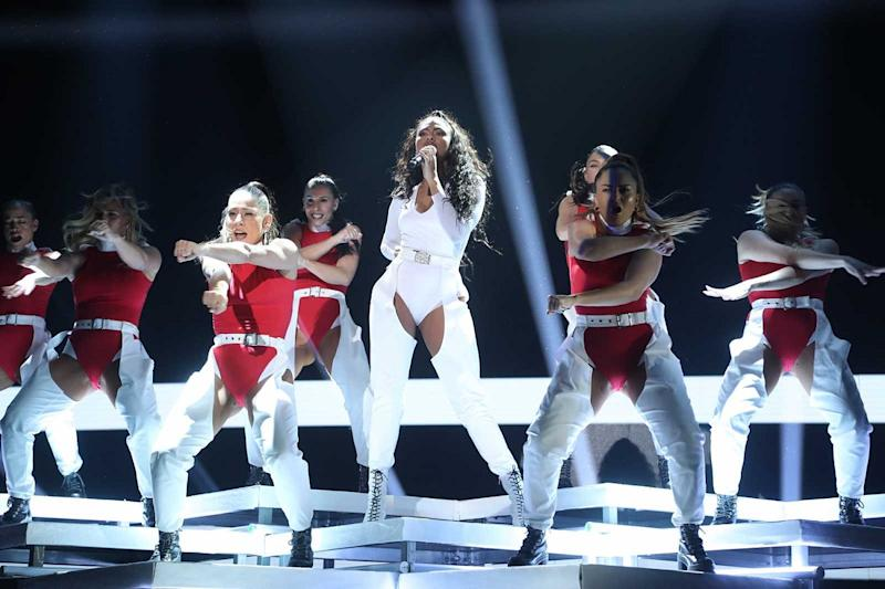 Nia canta 'Run The World (Girls)' de Beyoncé en la gala 5 de 'OT 2020'. (Foto: RTVE)