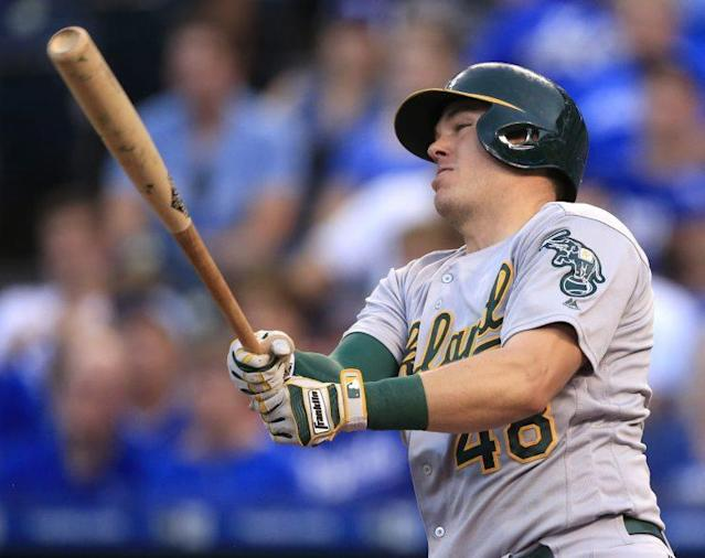 "Can <a class=""link rapid-noclick-resp"" href=""/mlb/players/10343/"" data-ylk=""slk:Ryon Healy"">Ryon Healy</a> improve on his excellent 2016 season? (AP)"
