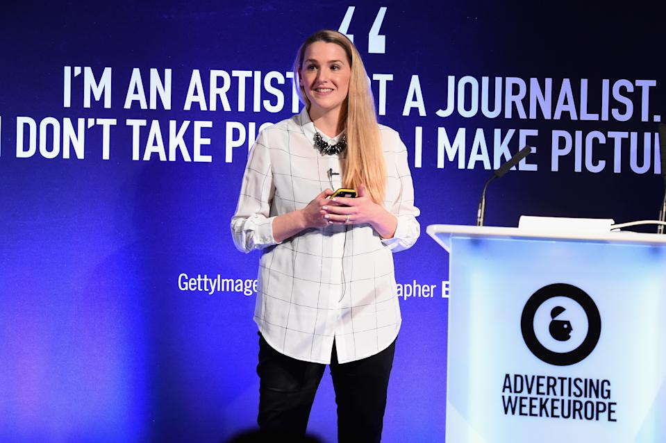 Natalie Bell, MD at Manning Gottlieb OMD, speaking during Advertising Week Europe 2016. (Eamonn M. McCormack/Getty Images for Advertising Week Europe)