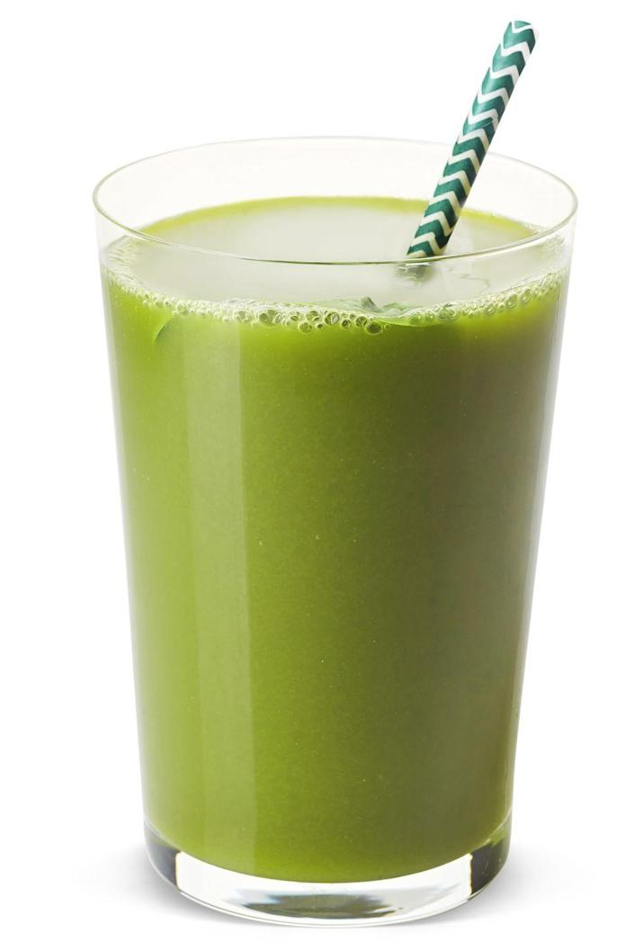 "<p>The best part about this green drink? ""[It] hides two cups of über-healthy leafy greens behind crisp tart apple, creamy banana, and sweet pineapple."" So basically, it's a tropical drink with nutrients. </p><p><strong>Ingredients</strong>: 1 cup almond milk, 1 cup baby spinach leaves, 1 cup kale leaves, 1-1/2 cup frozen pineapple chunks, 1/2 ripe banana, 1 Granny Smith apple.</p>"