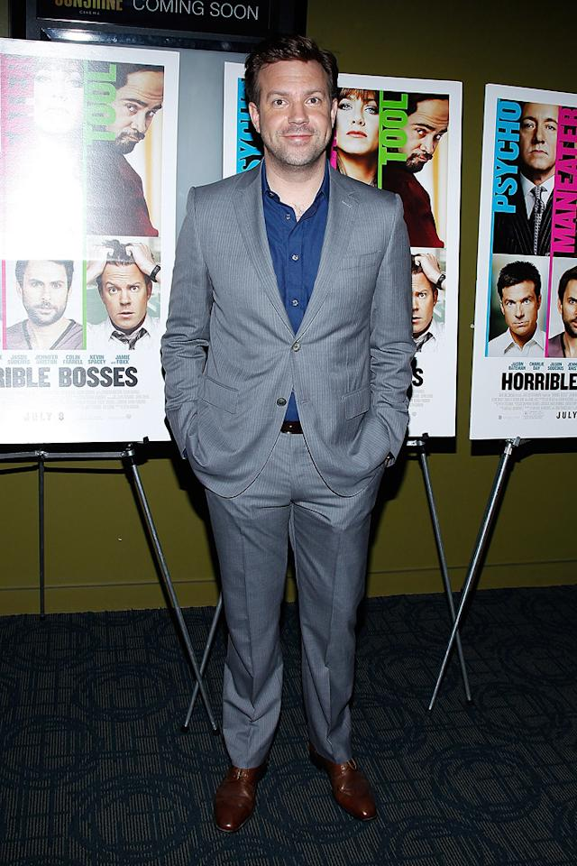 """<a href=""""http://movies.yahoo.com/movie/contributor/1809724956"""">Jason Sudeikis</a> at the New York screening of <a href=""""http://movies.yahoo.com/movie/1810161382/info"""">Horrible Bosses</a> on June 23, 2011."""