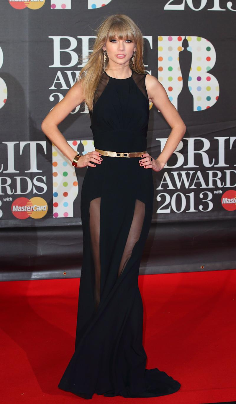 At the Brit Awards on Feb. 20, 2013, in London, England.