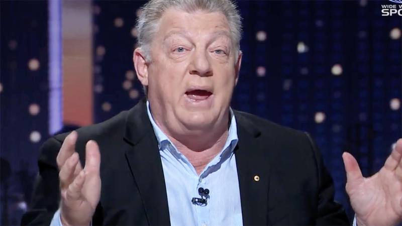Phil Gould, pictured here talking on 100% Footy.