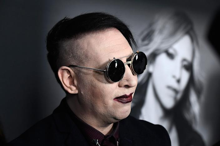 """Marilyn Manson attends the premiere of """"We Are X"""" at TCL Chinese Theatre in Hollywood on Oct. 3, 2016."""