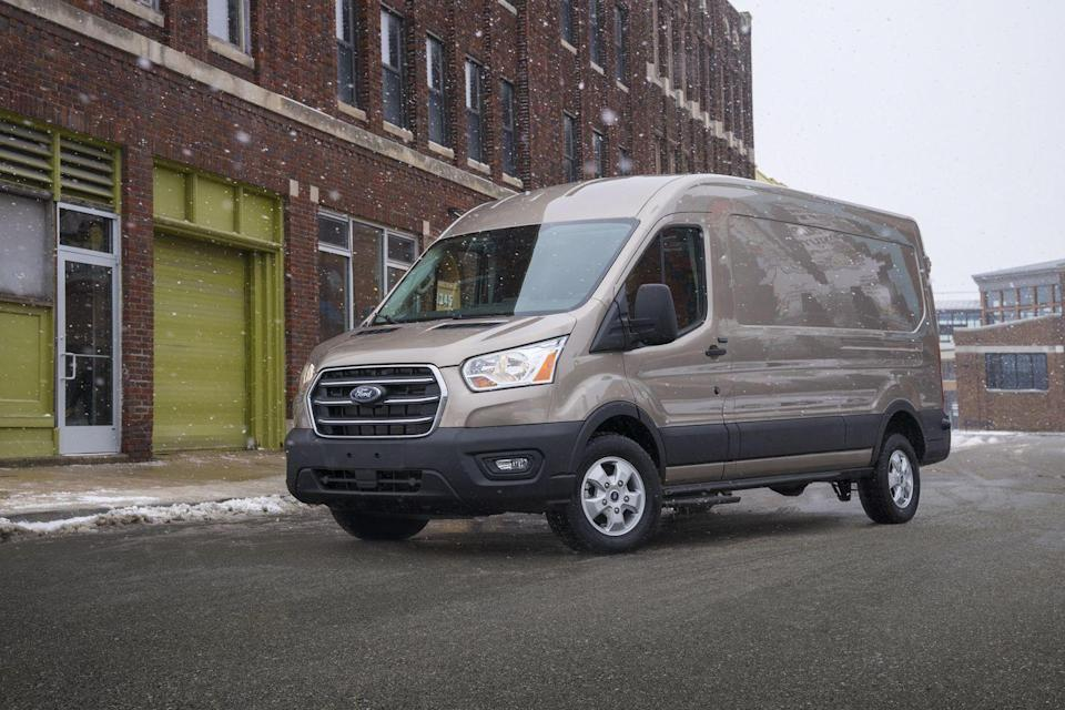 "<p>Whether you're looking for an entry into the van life or you need a well-equipped cargo van for business purposes, the 2021 Ford Transit can handle nearly anything you throw at it. <a href=""https://www.caranddriver.com/ford"" rel=""nofollow noopener"" target=""_blank"" data-ylk=""slk:Ford"" class=""link rapid-noclick-resp"">Ford</a> offers scores of configurations to fit into your needs, plus a host of <a href=""https://www.caranddriver.com/features/g27612164/car-safety-features/"" rel=""nofollow noopener"" target=""_blank"" data-ylk=""slk:driver-assistance features"" class=""link rapid-noclick-resp"">driver-assistance features</a> standard. The <a href=""https://www.caranddriver.com/mercedes-benz/sprinter"" rel=""nofollow noopener"" target=""_blank"" data-ylk=""slk:Mercedes-Benz Sprinter"" class=""link rapid-noclick-resp"">Mercedes-Benz Sprinter</a> offers greater payload capacity, and the Transit's base price is higher than some rivals, but when pitted against the rest of the field of full-size vans, the Ford still rises to the top of the segment. The Transit's handling is surprisingly adept for a vehicle its size and the cabin unexpectedly quiet. Whatever the job requirements or family needs, the Transit is up to it.</p><p><a class=""link rapid-noclick-resp"" href=""https://www.caranddriver.com/ford/transit"" rel=""nofollow noopener"" target=""_blank"" data-ylk=""slk:Review, Pricing, and Specs"">Review, Pricing, and Specs</a></p>"