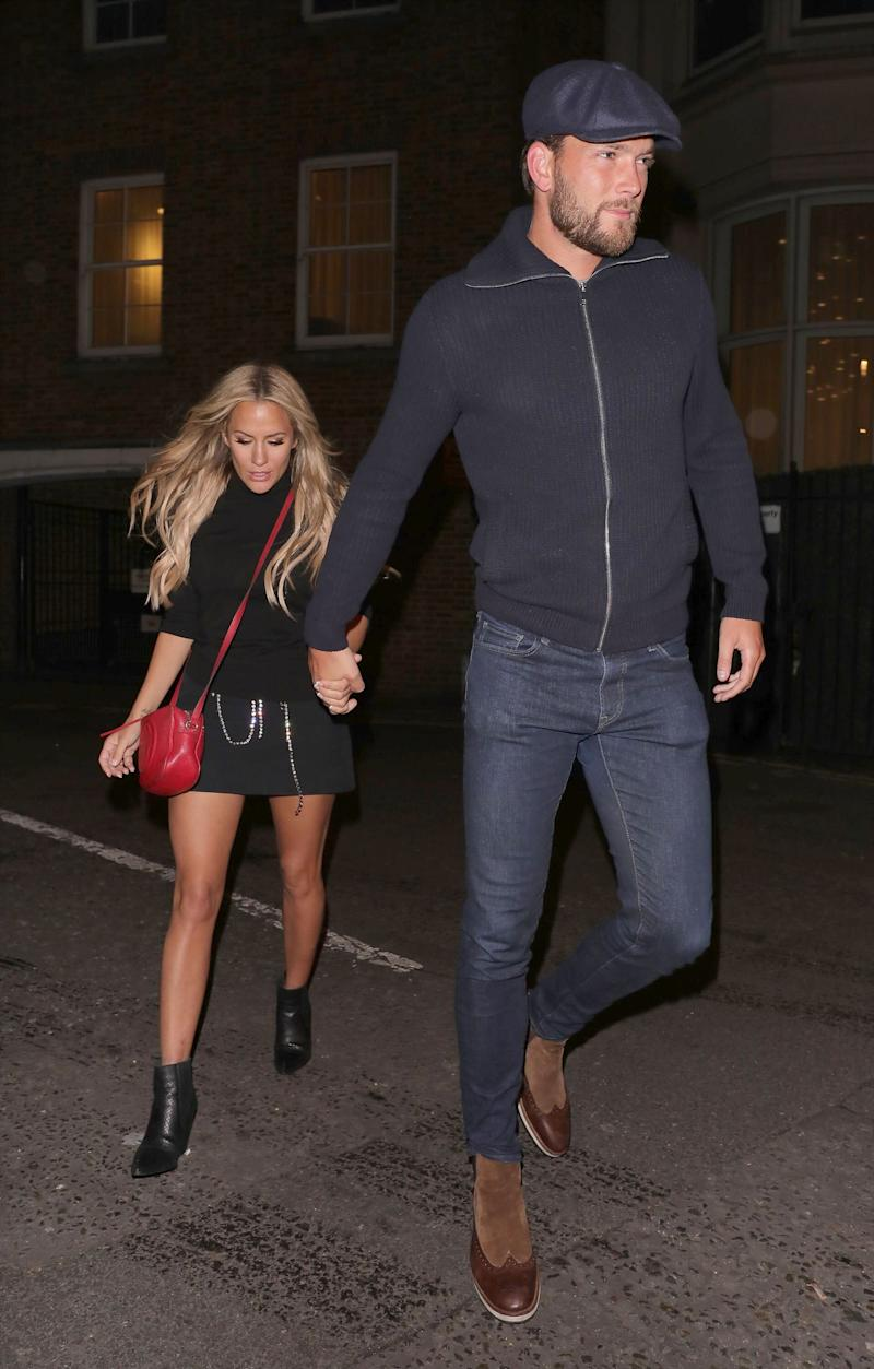 Caroline Flack and Lewis Burton pictured in October (Photo: Mark R Milan/Shutterstock)