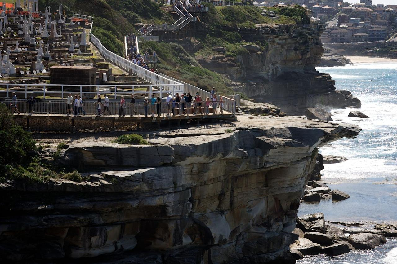 "<p>Take your cardio to the 6K clifftop path from Bondi to Coogee. Arrive at sunrise for the views and psych yourself up for a jump in the surf later. <a href=""http://bonditocoogeewalk.com"" target=""_blank"">bonditocoogeewalk.com</a><br></p>"