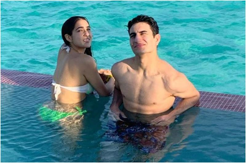 Ibrahim Ali Khan Shares Throwback Picture with Sara Ali Khan from Their Maldives Vacation