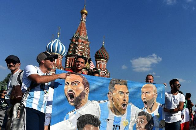 Supporters from Latin American countries like Argentina sometimes get government help travelling abroad (AFP Photo/Vasily MAXIMOV)