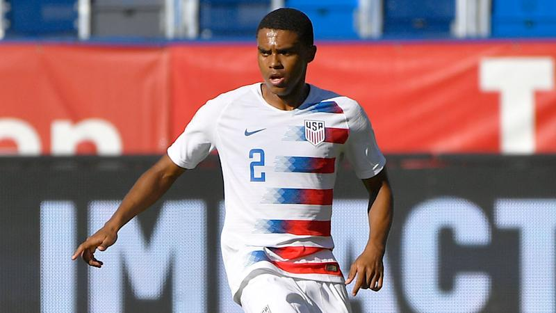 Pictured here, Dallas defender Reggie Cannon in action for the USA men's team.