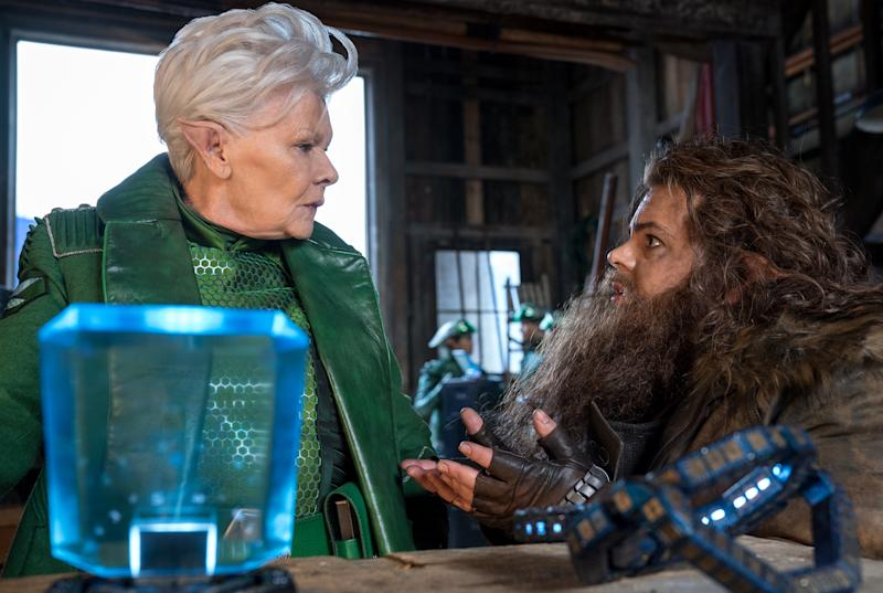 Jud Dench is Commander Root and Josh Gad is Mulch Diggums in Disney's ARTEMIS FOWL