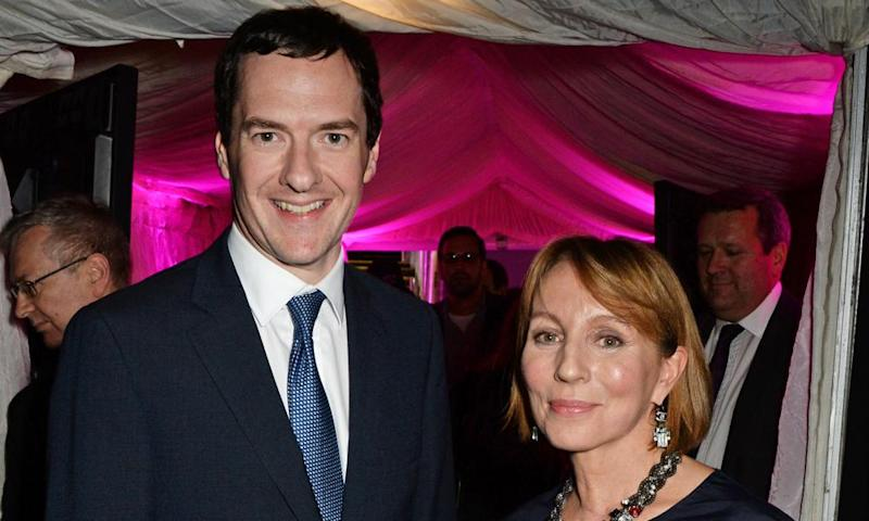 George Osborne and Sarah Sands