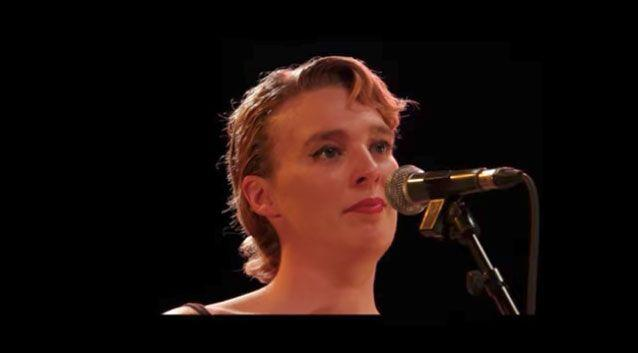 French singer Barbara Weldens has died during a concert. She is pictured performing earlier this year. Photo: Youtube