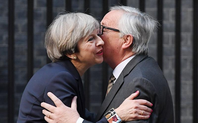 Theresa May and Jean-Claude Juncker - EPA