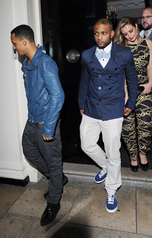 Marvin's JLS bandmates were also at the Sony party.