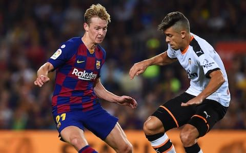 Frenkie de Jong (left) in action for Barcelona - Credit: getty images