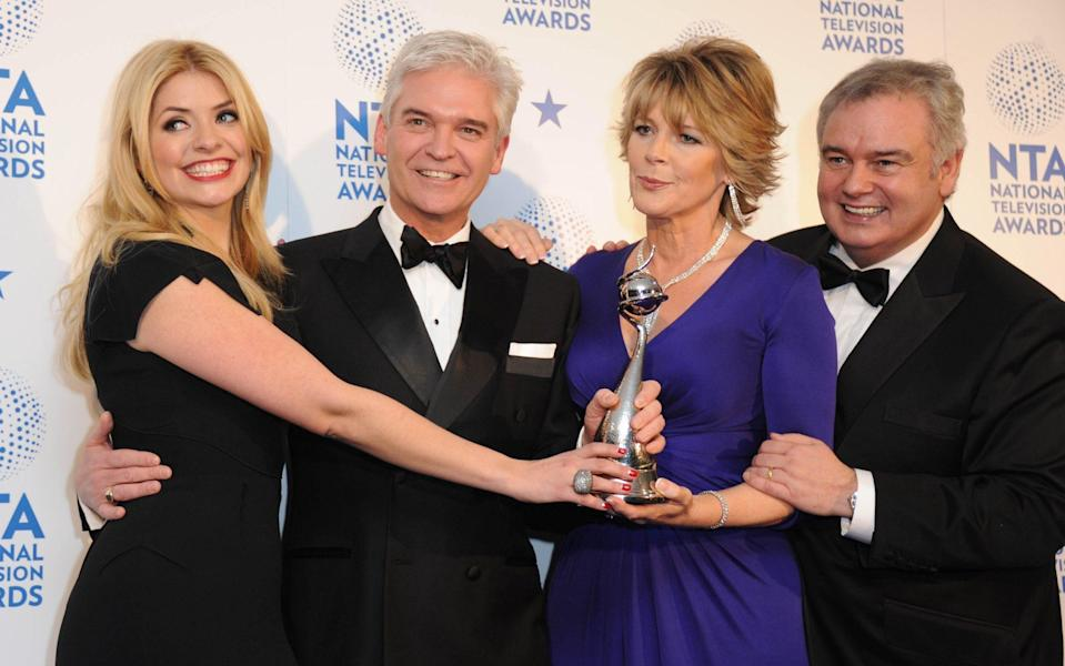 Eamonn Holmes and his wife Ruth Langsford with This Morning colleagues Phillip Schofield and Holly Willoughby - Getty